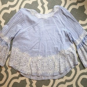 Zara Women's striped top with lace